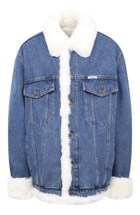 Женская джинсовая куртка FORTE DEI MARMI COUTURE голубого цвета, арт. 20WF7350-08 | Фото 1