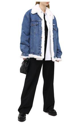 Женская джинсовая куртка FORTE DEI MARMI COUTURE голубого цвета, арт. 20WF7350-08 | Фото 2