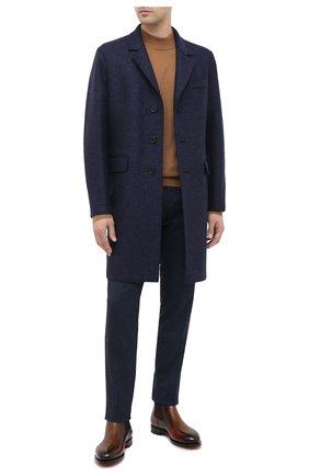 Мужской шерстяное пальто HARRIS WHARF LONDON синего цвета, арт. C9113MLK | Фото 2