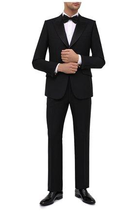 Мужской шерстяной смокинг GUCCI черного цвета, арт. 606245/Z592B | Фото 1