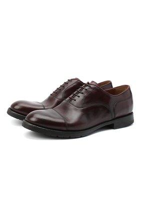 Мужские кожаные оксфорды W.GIBBS бордового цвета, арт. 0337003/2280 | Фото 1