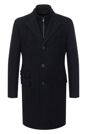 Мужской кашемировое пальто CORNELIANI темно-синего цвета, арт. 861581-0812600/00 | Фото 1