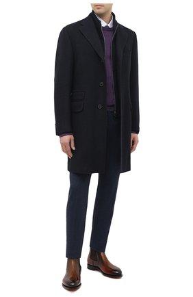 Мужской кашемировое пальто CORNELIANI темно-синего цвета, арт. 861581-0812600/00 | Фото 2