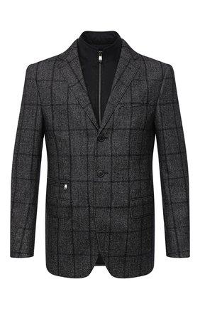 Мужской шерстяной пиджак CORNELIANI темно-серого цвета, арт. 866557-0816200/80 | Фото 1