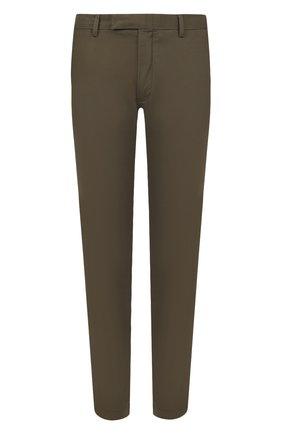 Мужские хлопковые брюки POLO RALPH LAUREN зеленого цвета, арт. 710644988 | Фото 1 (Материал внешний: Хлопок; Длина (брюки, джинсы): Стандартные; Случай: Повседневный; Стили: Кэжуэл)