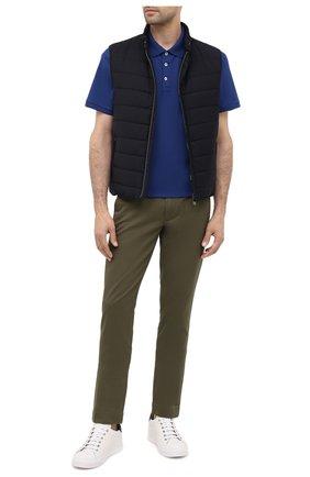 Мужские хлопковые брюки POLO RALPH LAUREN зеленого цвета, арт. 710644988 | Фото 2 (Материал внешний: Хлопок; Длина (брюки, джинсы): Стандартные; Случай: Повседневный; Стили: Кэжуэл)