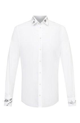 Мужская хлопковая сорочка DOLCE & GABBANA белого цвета, арт. G5EJ0T/GE046   Фото 1
