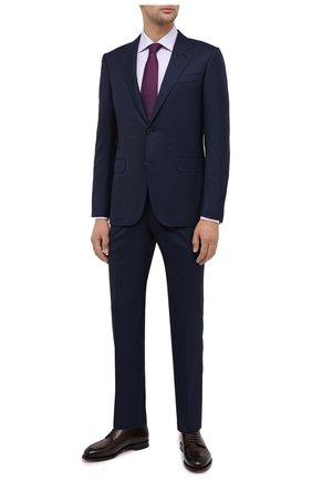 Мужской шерстяной костюм ERMENEGILDO ZEGNA темно-синего цвета, арт. 816518/221225 | Фото 1