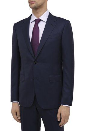 Мужской шерстяной костюм ERMENEGILDO ZEGNA темно-синего цвета, арт. 816518/221225 | Фото 2