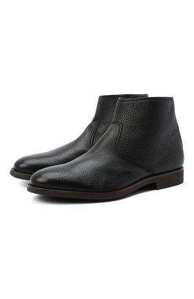 Мужские кожаные сапоги MORESCHI черного цвета, арт. 43569/189/CERV0/F.PELLICCIA | Фото 1