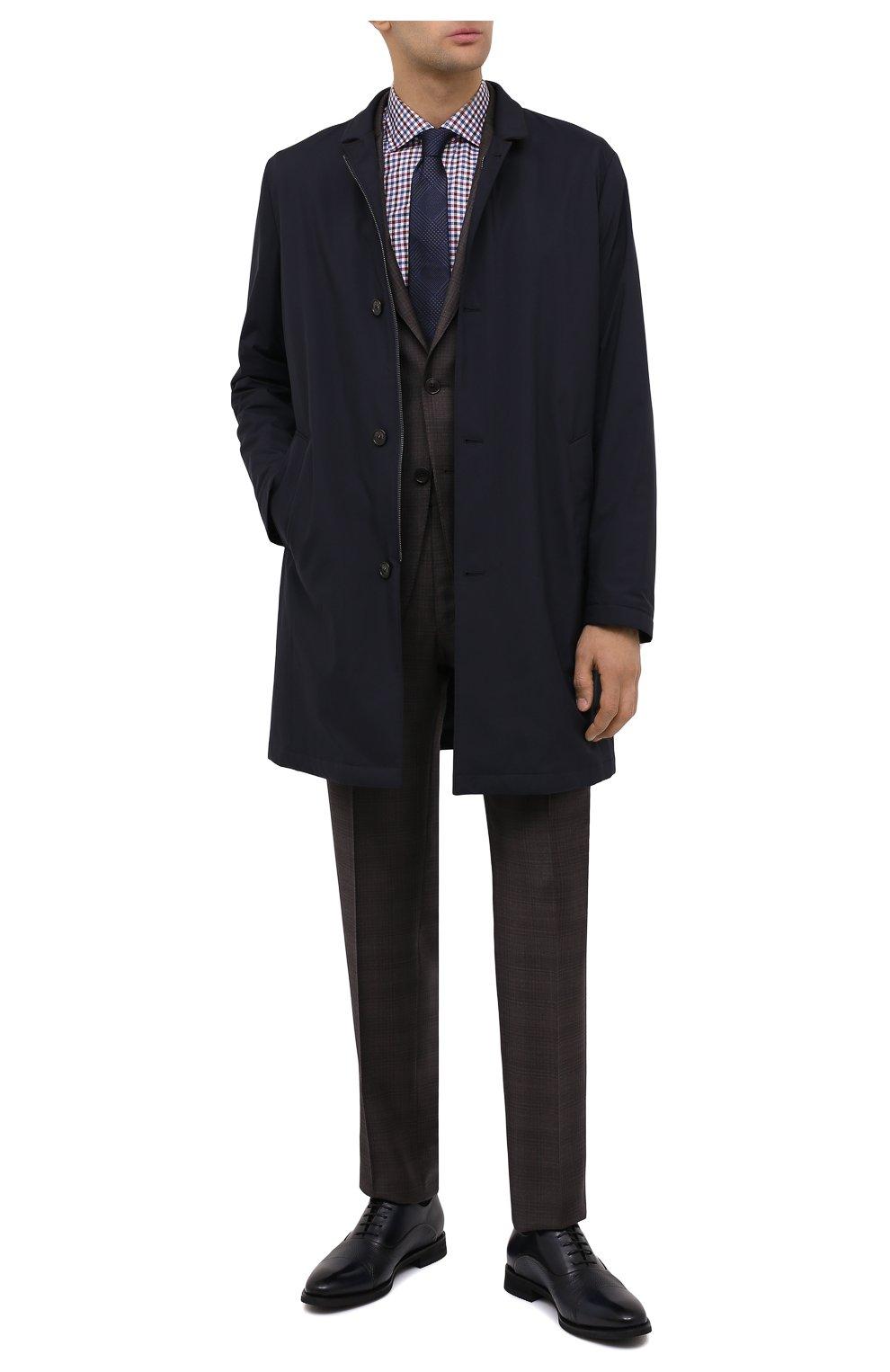 Мужские кожаные оксфорды BARRETT темно-синего цвета, арт. 192U090.6/BETIS CREAM | Фото 2