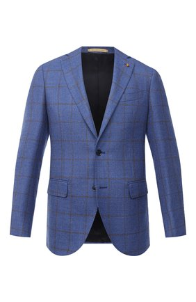 Мужской пиджак из шерсти и шелка SARTORIA LATORRE голубого цвета, арт. G0I7EF Q80696 | Фото 1