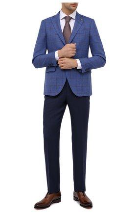 Мужской пиджак из шерсти и шелка SARTORIA LATORRE голубого цвета, арт. G0I7EF Q80696 | Фото 2