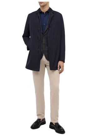 Мужская хлопковая рубашка VAN LAACK синего цвета, арт. M-PER-LSF/180031 | Фото 2 (Рукава: Длинные; Длина (для топов): Стандартные; Материал внешний: Хлопок; Мужское Кросс-КТ: Рубашка-одежда; Случай: Повседневный; Принт: Однотонные; Стили: Кэжуэл; Манжеты: На пуговицах; Воротник: Акула)