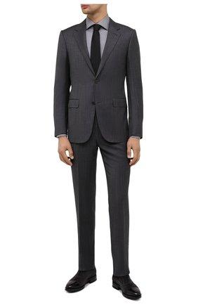 Мужская хлопковая сорочка VAN LAACK темно-серого цвета, арт. RIVARA-TF/162801 | Фото 2