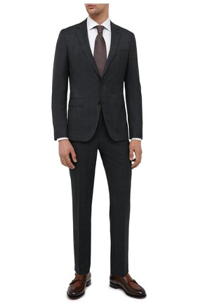 Мужской шерстяной костюм BOSS темно-зеленого цвета, арт. 50438530   Фото 1