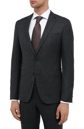 Мужской шерстяной костюм BOSS темно-зеленого цвета, арт. 50438530   Фото 2