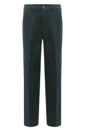 Мужской хлопковые брюки KENZO темно-зеленого цвета, арт. FA65PA2551TA   Фото 1
