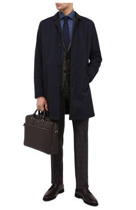 Мужская кожаная сумка для ноутбука SERAPIAN темно-коричневого цвета, арт. SCACHMLL7065M40A | Фото 2