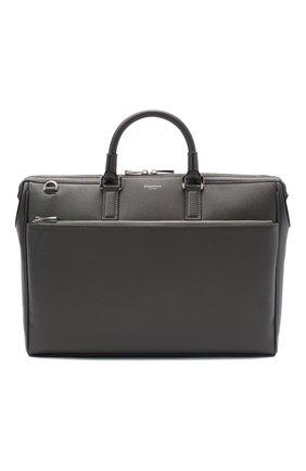 Мужская кожаная сумка для ноутбука SERAPIAN серого цвета, арт. SEV0LMLL6198M38B | Фото 1