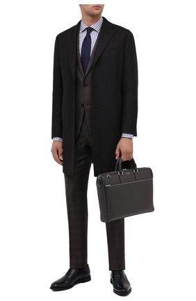 Мужская кожаная сумка для ноутбука SERAPIAN серого цвета, арт. SEV0LMLL6198M38B | Фото 2