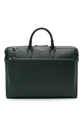 Мужская кожаная сумка для ноутбука SERAPIAN темно-зеленого цвета, арт. SEV0LMLL6198M38B | Фото 1