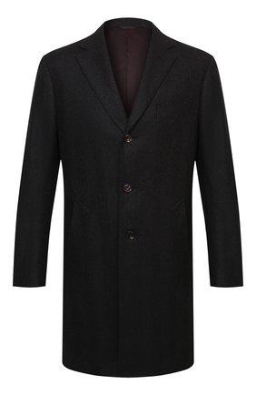 Мужской шерстяное пальто LUCIANO BARBERA темно-коричневого цвета, арт. 106036/00054 | Фото 1