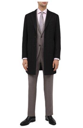 Мужской шерстяное пальто LUCIANO BARBERA темно-коричневого цвета, арт. 106036/00054 | Фото 2