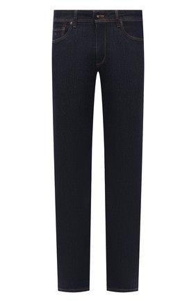 Мужские джинсы LUCIANO BARBERA темно-синего цвета, арт. 114813/46197 | Фото 1