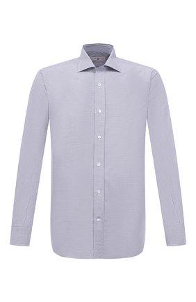 Мужская хлопковая сорочка LUCIANO BARBERA синего цвета, арт. 155429/72701 | Фото 1