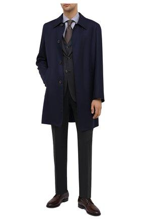 Мужская хлопковая сорочка LUCIANO BARBERA синего цвета, арт. 155429/72701 | Фото 2