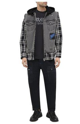 Мужские джинсы DIESEL темно-серого цвета, арт. 00S6FU/009IB | Фото 2