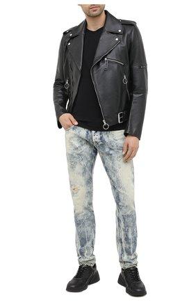 Мужские джинсы DIESEL голубого цвета, арт. 00SWID/009FM | Фото 2