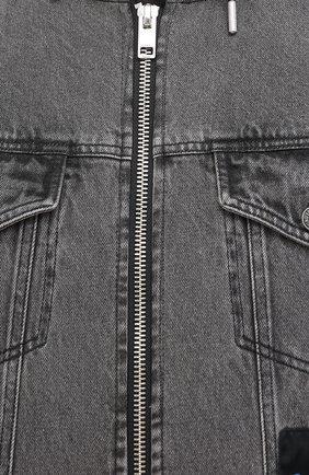 Мужская комбинированная куртка DIESEL черного цвета, арт. A00209/0KAYD | Фото 5