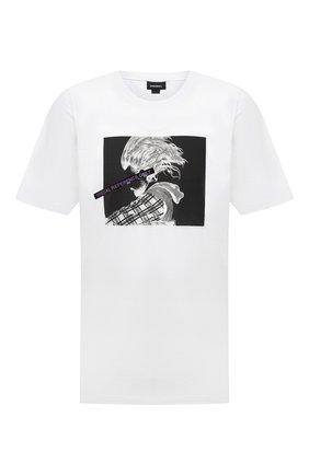 Мужская хлопковая футболка DIESEL белого цвета, арт. A00279/0JAYF | Фото 1