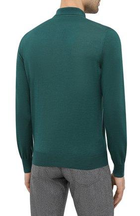 Мужское шерстяное поло GRAN SASSO зеленого цвета, арт. 45132/14790 | Фото 4