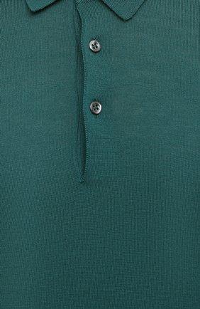 Мужское шерстяное поло GRAN SASSO зеленого цвета, арт. 45132/14790 | Фото 5