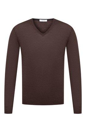 Мужской пуловер из шерсти и шелка GRAN SASSO коричневого цвета, арт. 57115/13190 | Фото 1