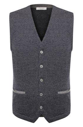 Мужской шерстяной жилет GRAN SASSO темно-серого цвета, арт. 57117/14229 | Фото 1