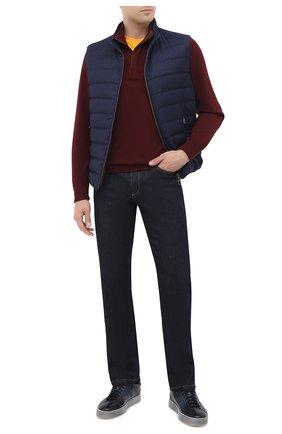 Мужские кожаные кеды SANTONI темно-синего цвета, арт. MBGL20850SP0RG00U60 | Фото 2
