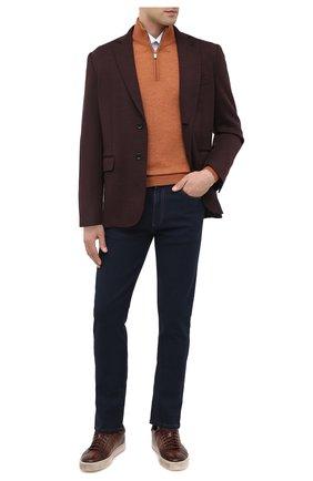 Мужские кожаные кеды SANTONI коричневого цвета, арт. MBGL20850SP0RG00S50 | Фото 2
