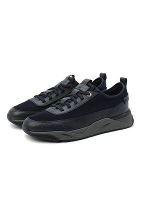 Мужские комбинированные кроссовки SANTONI темно-синего цвета, арт. MBI021323ANERVBRU75 | Фото 1