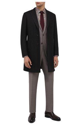 Мужские кожаные оксфорды SANTONI коричневого цвета, арт. MCAZ16503SI5EKYBT50 | Фото 2