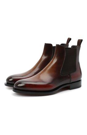 Мужские кожаные челси SANTONI коричневого цвета, арт. MCC016749MC3HNGCT30 | Фото 1