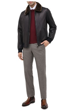 Мужские кожаные челси SANTONI коричневого цвета, арт. MCC016749MC3HNGCT30 | Фото 2