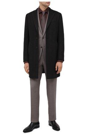 Мужские кожаные оксфорды SANTONI черного цвета, арт. MCLE16207SI1ESCSN01 | Фото 2
