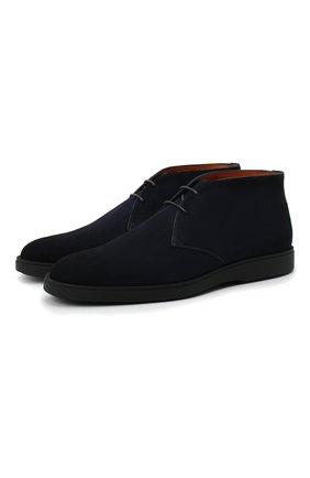 Мужские замшевые ботинки SANTONI темно-синего цвета, арт. MGDT17297NEREPMSU60 | Фото 1