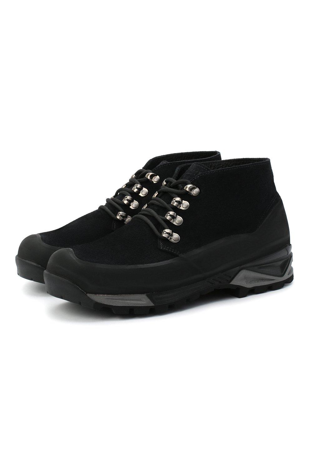 Мужские комбинированные ботинки DIEMME черного цвета, арт. DI1907AS01/M   Фото 1