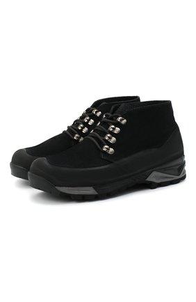 Мужские комбинированные ботинки DIEMME черного цвета, арт. DI1907AS01/M | Фото 1