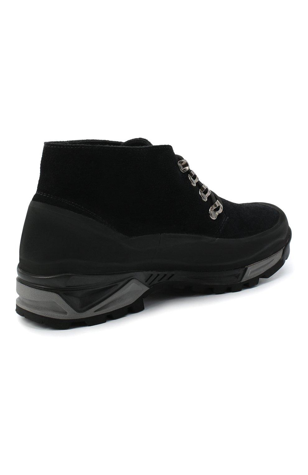 Мужские комбинированные ботинки DIEMME черного цвета, арт. DI1907AS01/M   Фото 4
